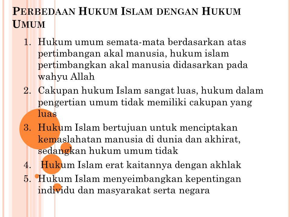 Perbedaan Hukum Islam dengan Hukum Umum