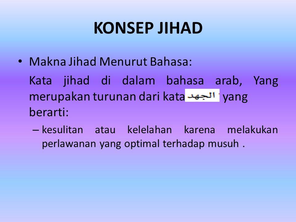 KONSEP JIHAD Makna Jihad Menurut Bahasa: