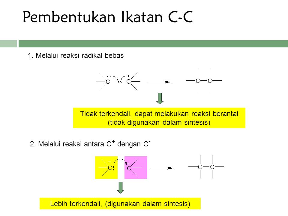 Pembentukan Ikatan C-C