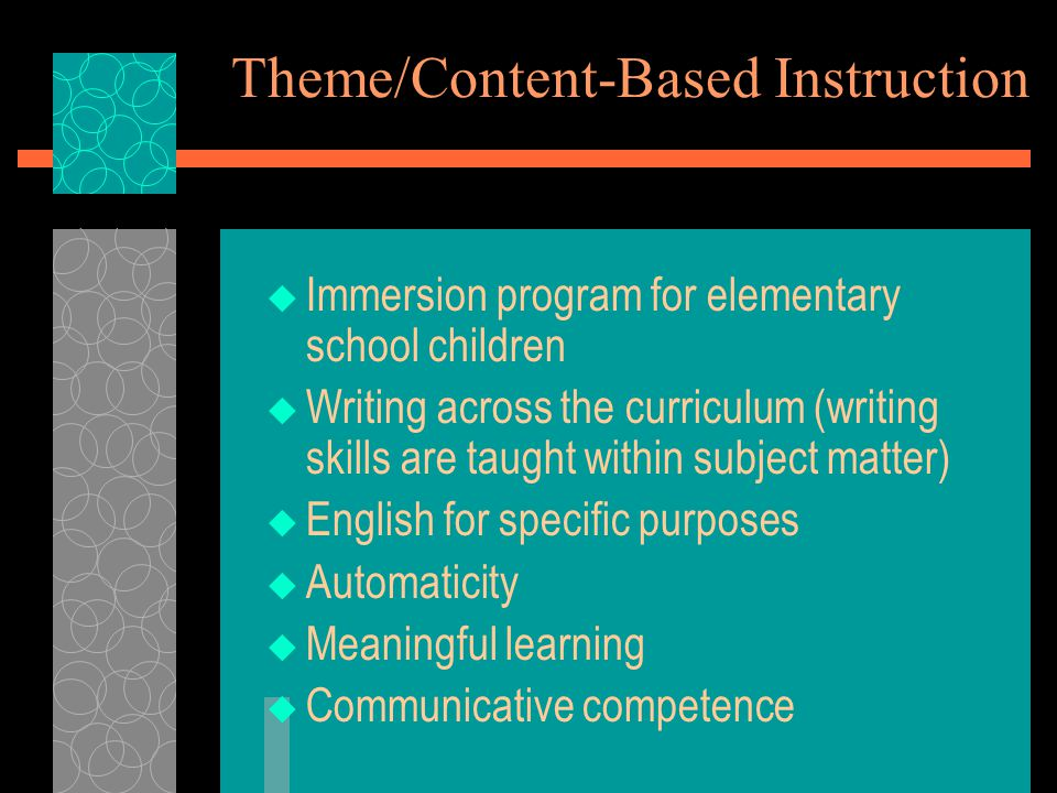 Theme/Content-Based Instruction