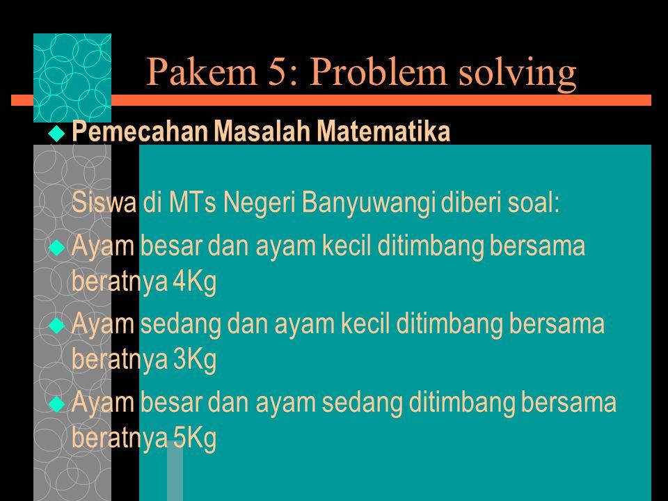 Pakem 5: Problem solving