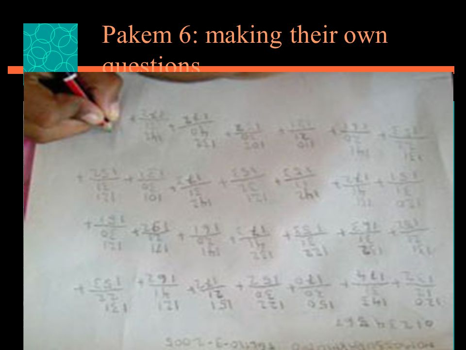 Pakem 6: making their own questions