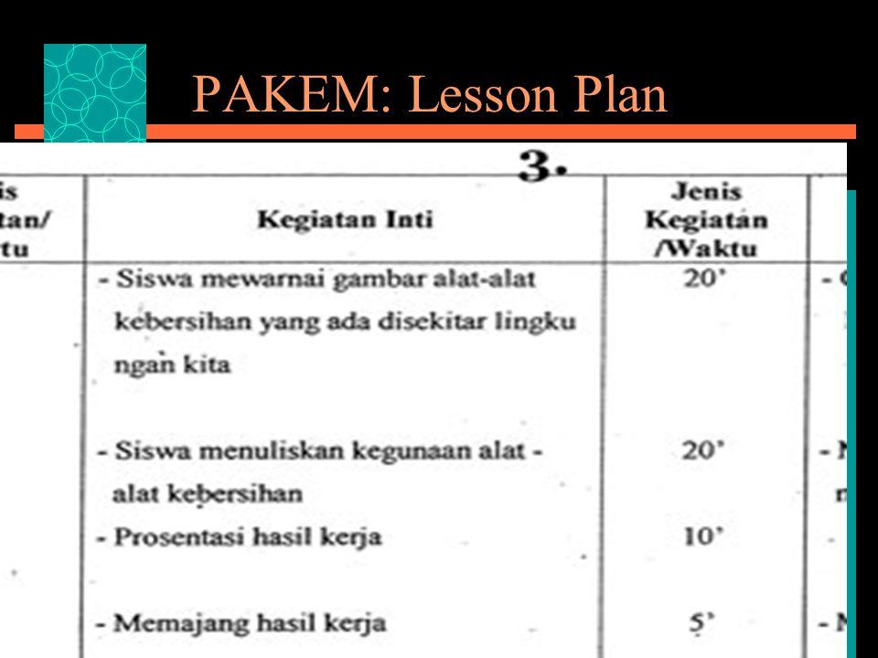 PAKEM: Lesson Plan
