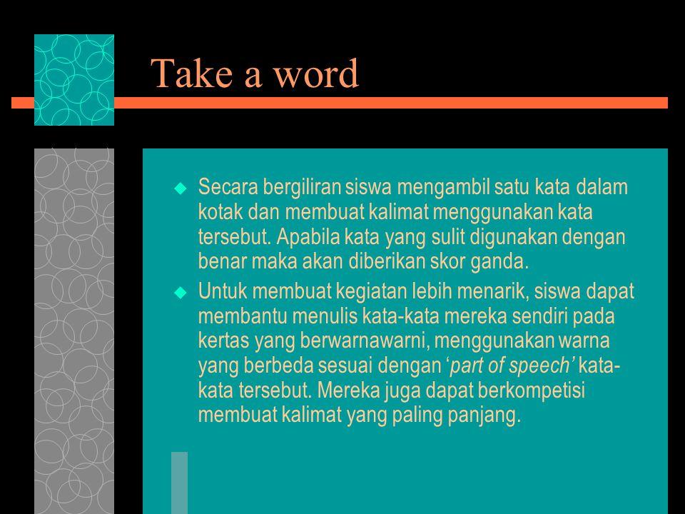 Take a word