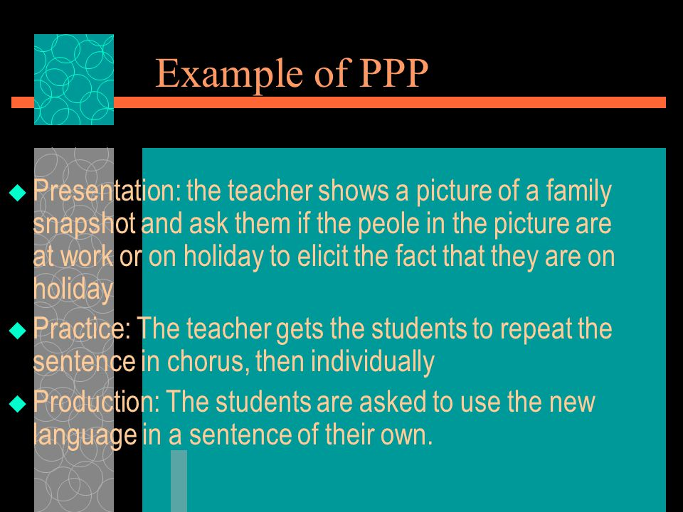 Example of PPP