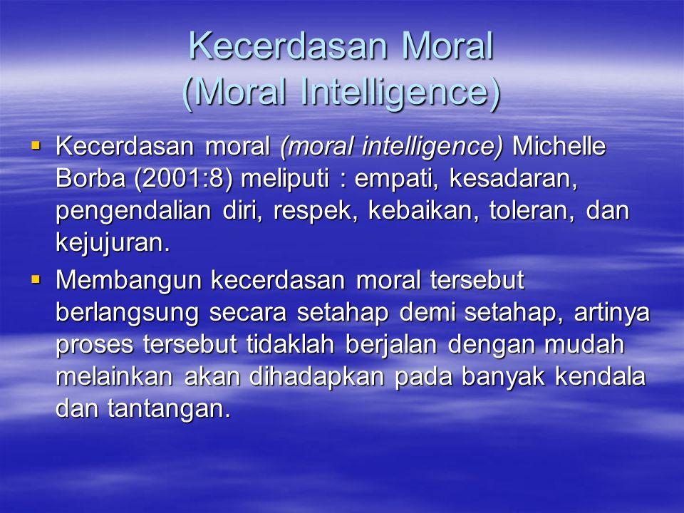 Kecerdasan Moral (Moral Intelligence)