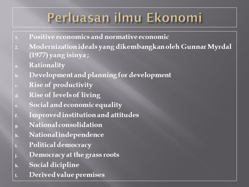 Perluasan ilmu Ekonomi
