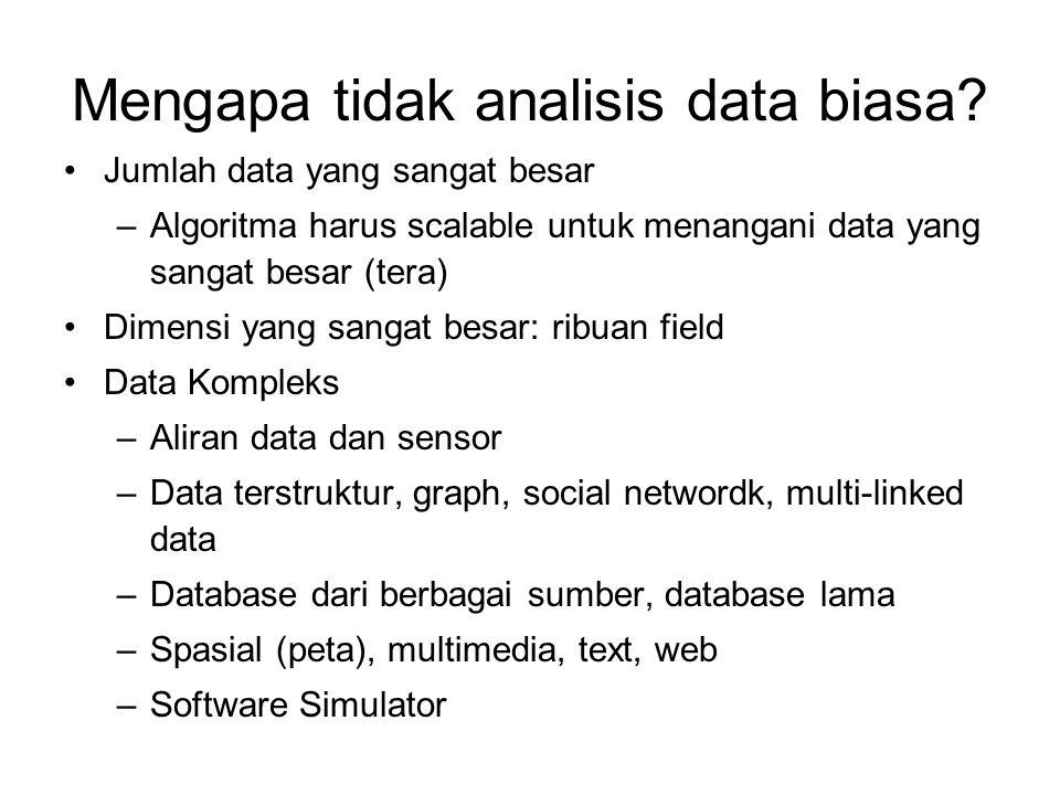 Mengapa tidak analisis data biasa