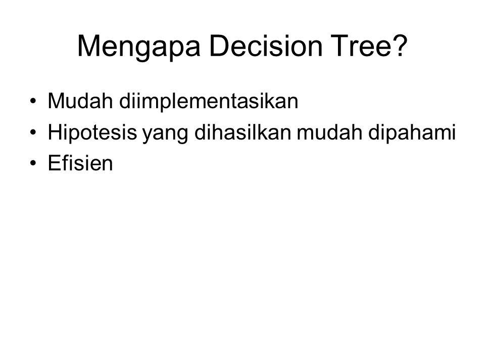 Mengapa Decision Tree Mudah diimplementasikan