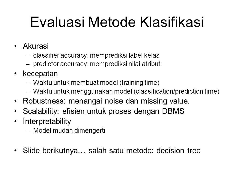 Evaluasi Metode Klasifikasi