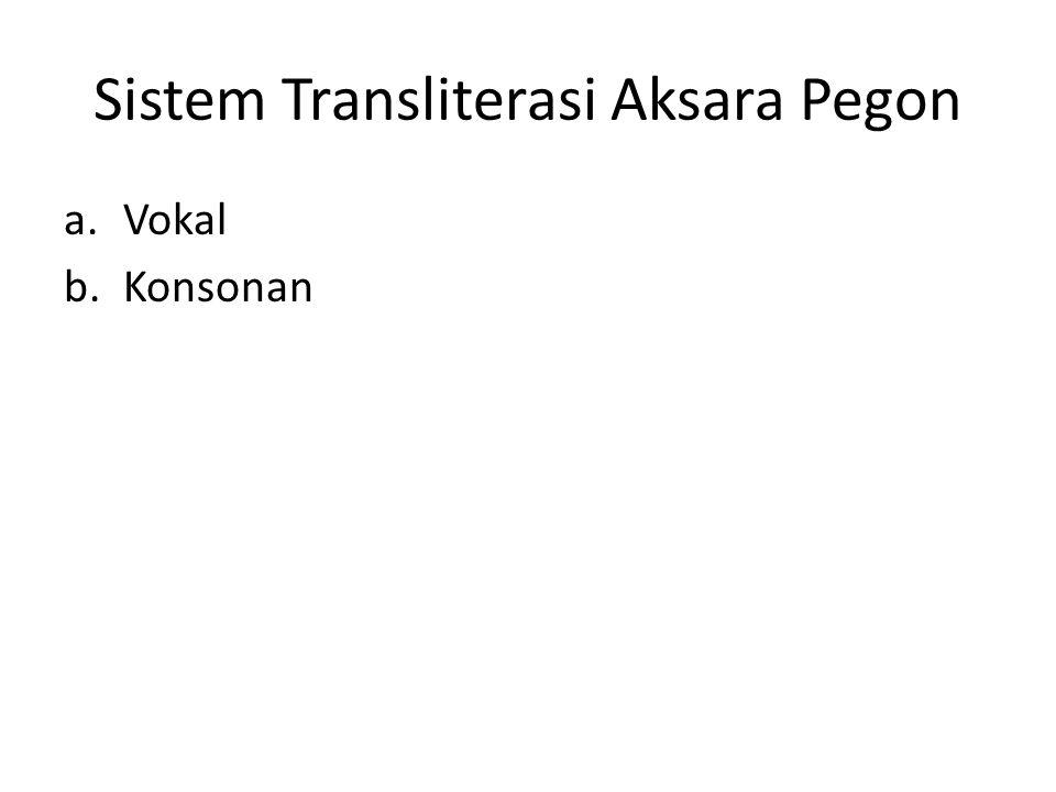 Sistem Transliterasi Aksara Pegon