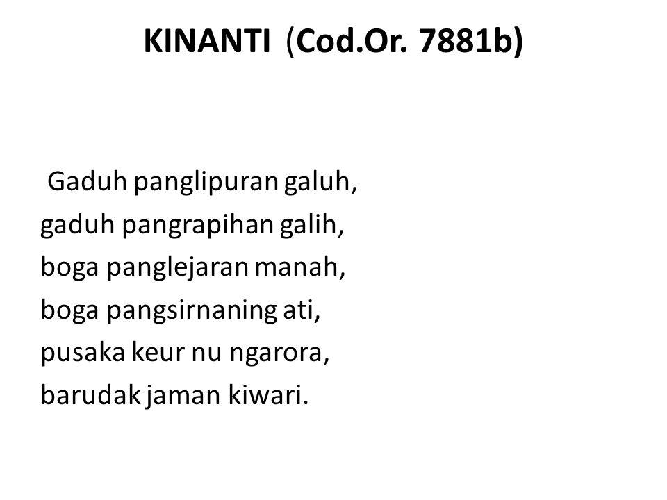 KINANTI (Cod.Or. 7881b) Gaduh panglipuran galuh,