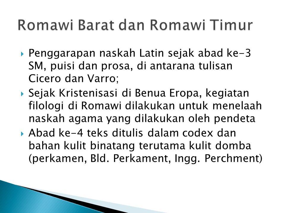 Romawi Barat dan Romawi Timur