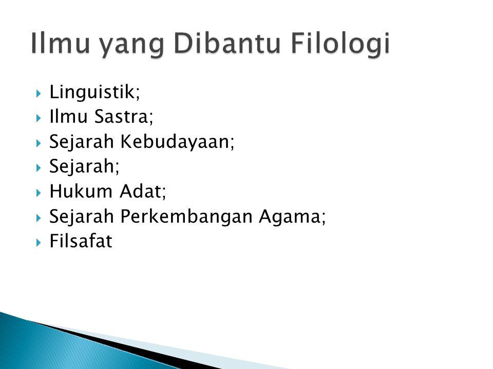 Ilmu yang Dibantu Filologi