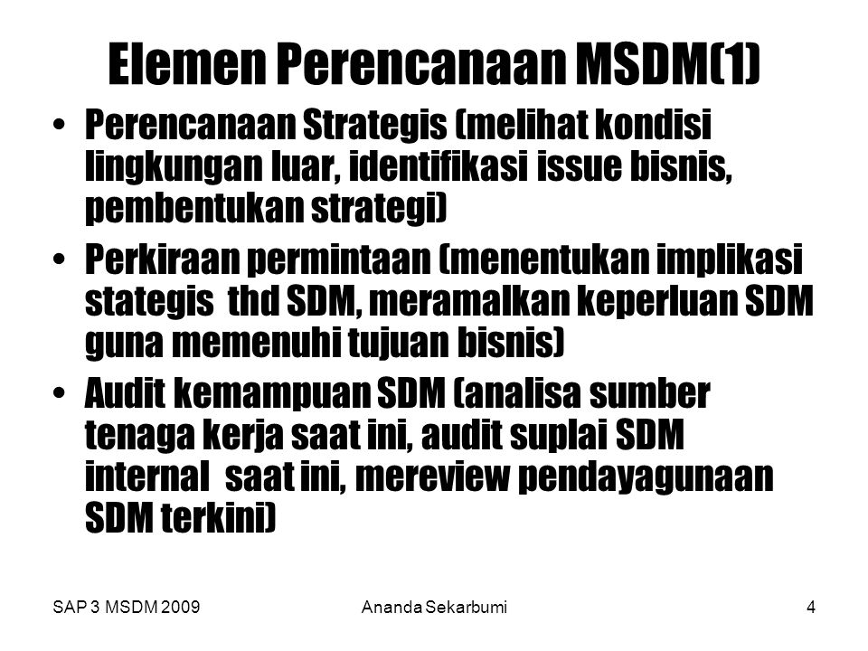 Elemen Perencanaan MSDM(1)