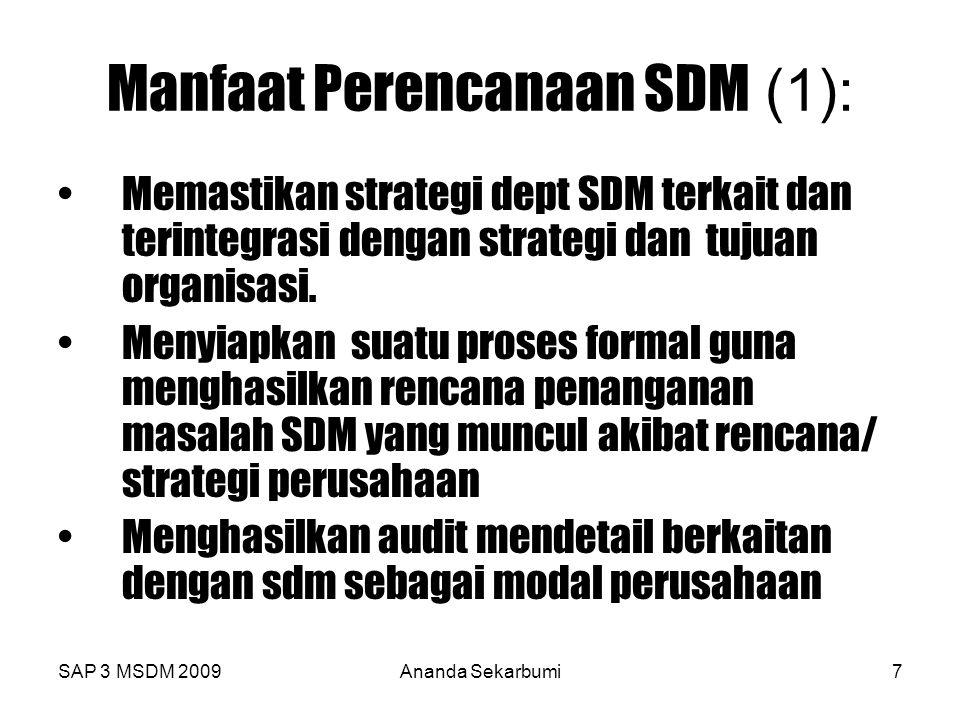 Manfaat Perencanaan SDM (1):