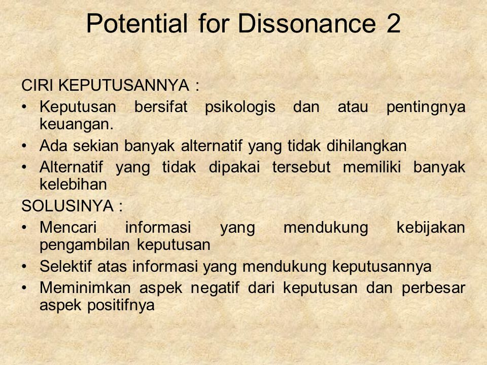 Potential for Dissonance 2