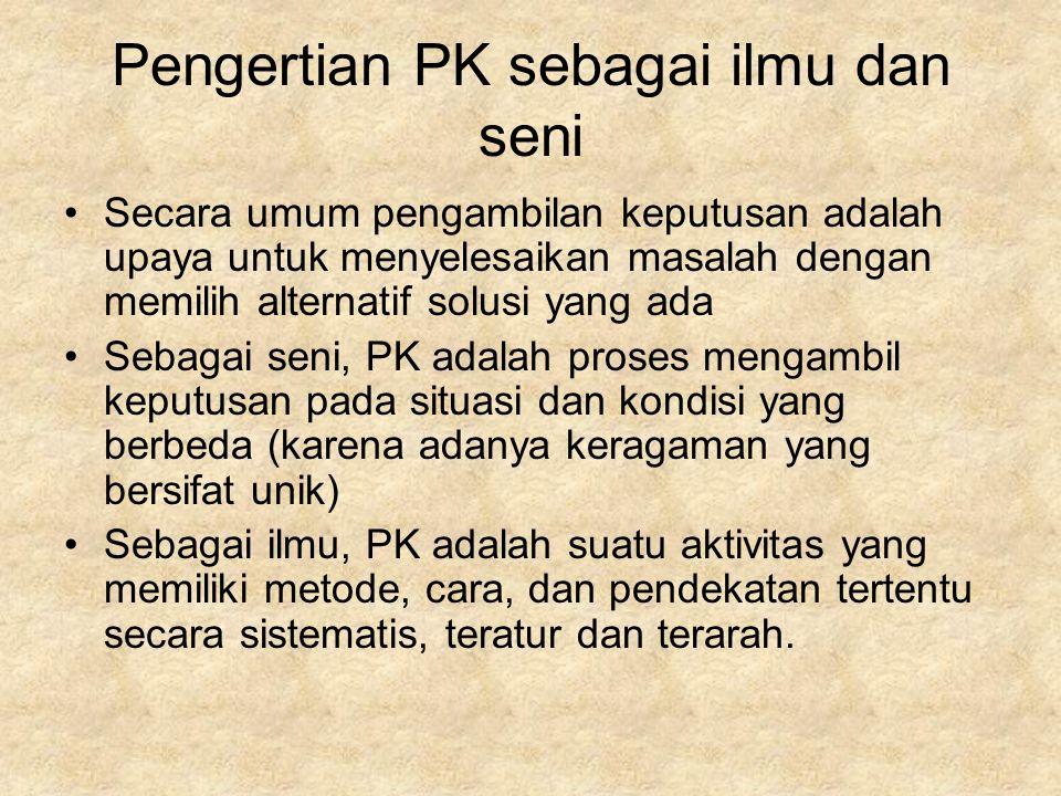 Pengertian PK sebagai ilmu dan seni