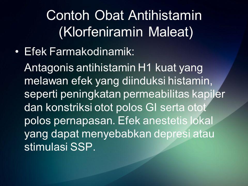 Contoh Obat Antihistamin (Klorfeniramin Maleat)