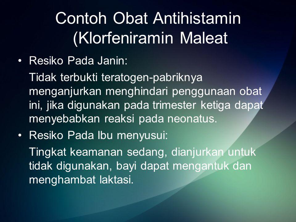 Contoh Obat Antihistamin (Klorfeniramin Maleat