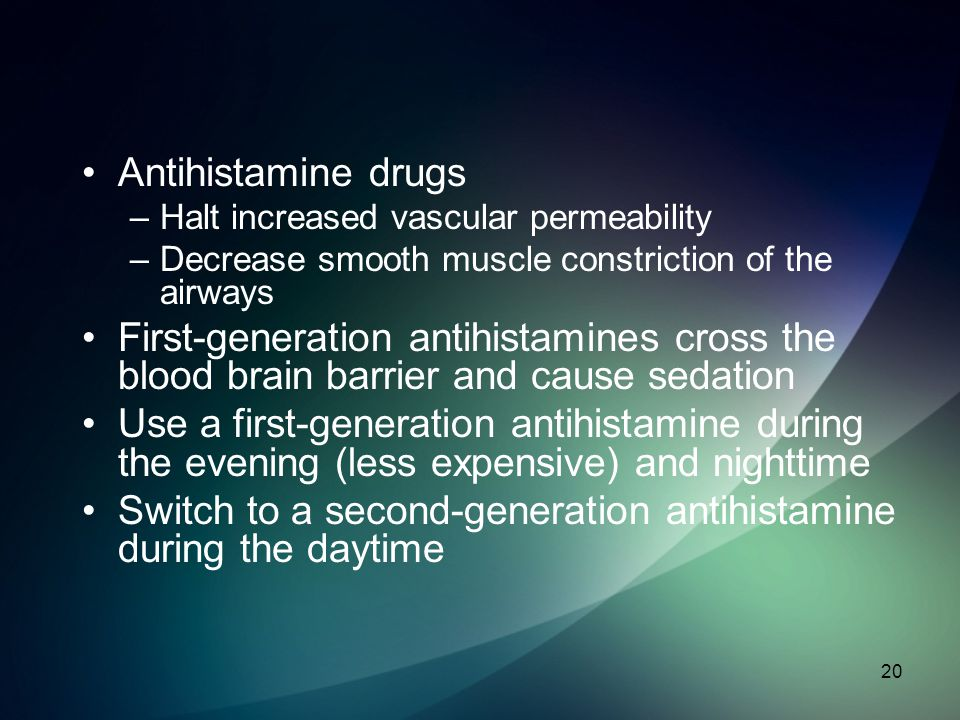 Switch to a second-generation antihistamine during the daytime