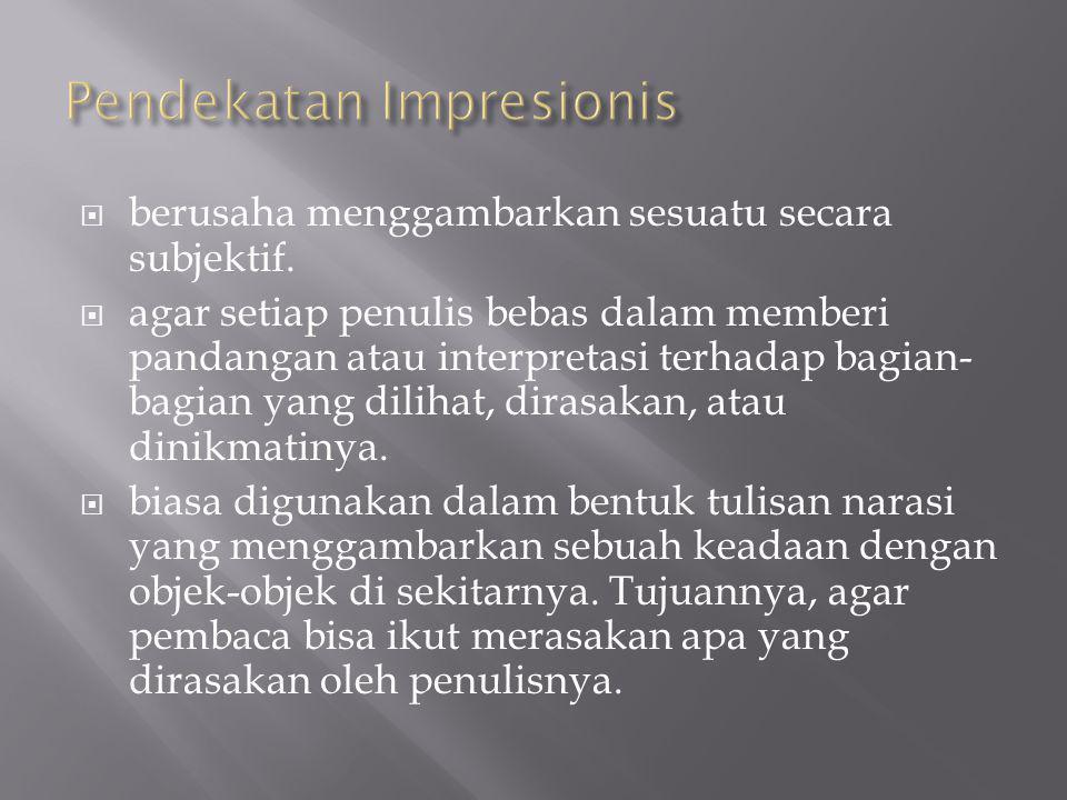 Pendekatan Impresionis