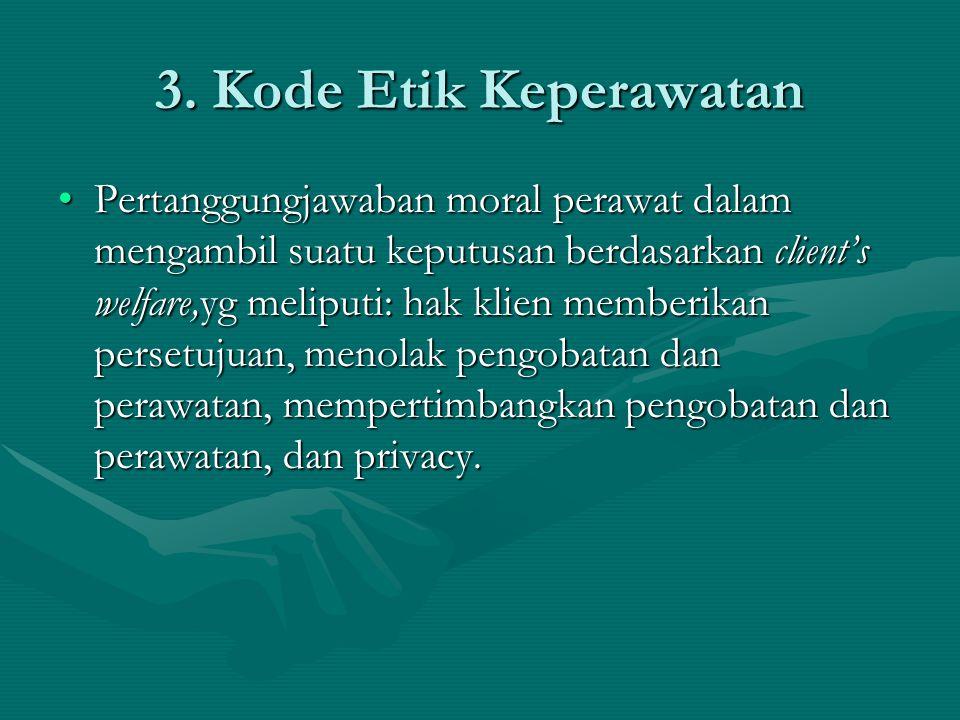 3. Kode Etik Keperawatan