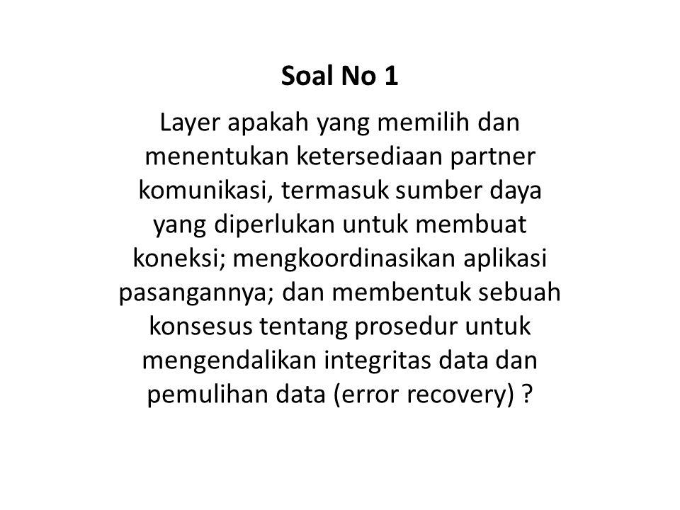 Soal No 1