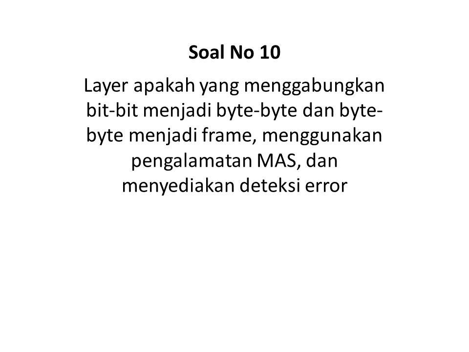 Soal No 10