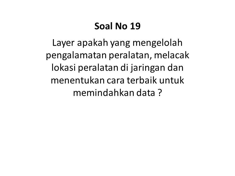 Soal No 19