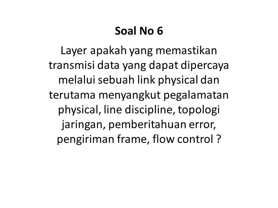 Soal No 6