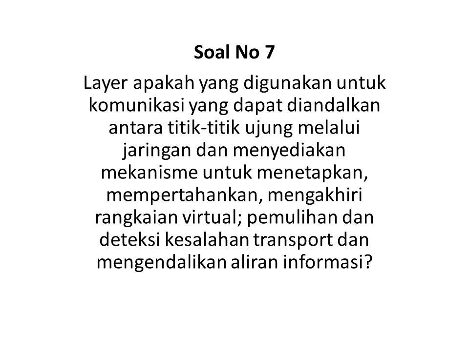 Soal No 7