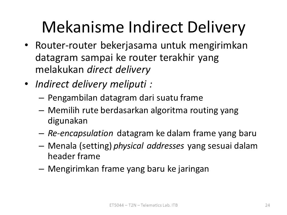 Mekanisme Indirect Delivery