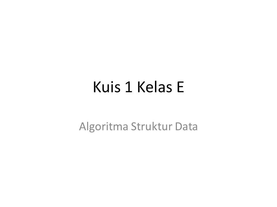 Algoritma Struktur Data