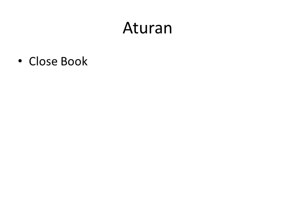 Aturan Close Book