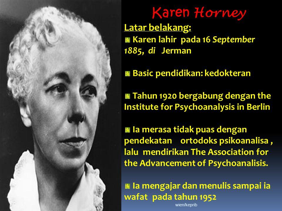 Karen Horney Latar belakang: