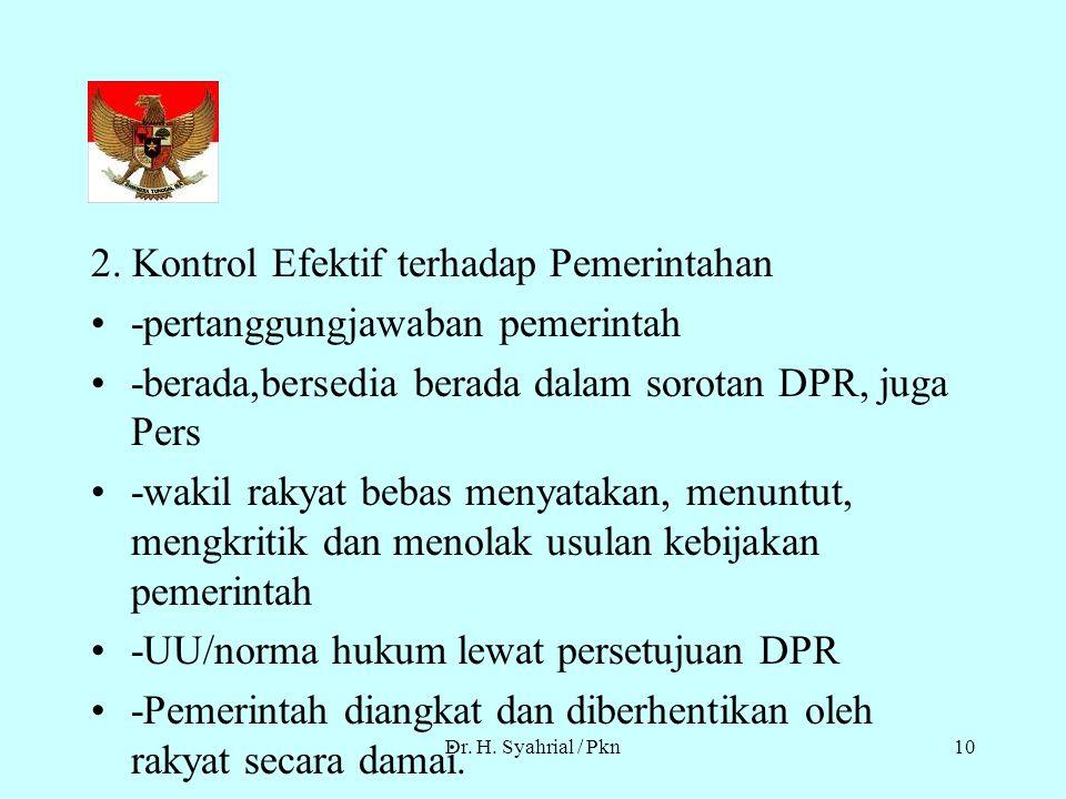 2. Kontrol Efektif terhadap Pemerintahan