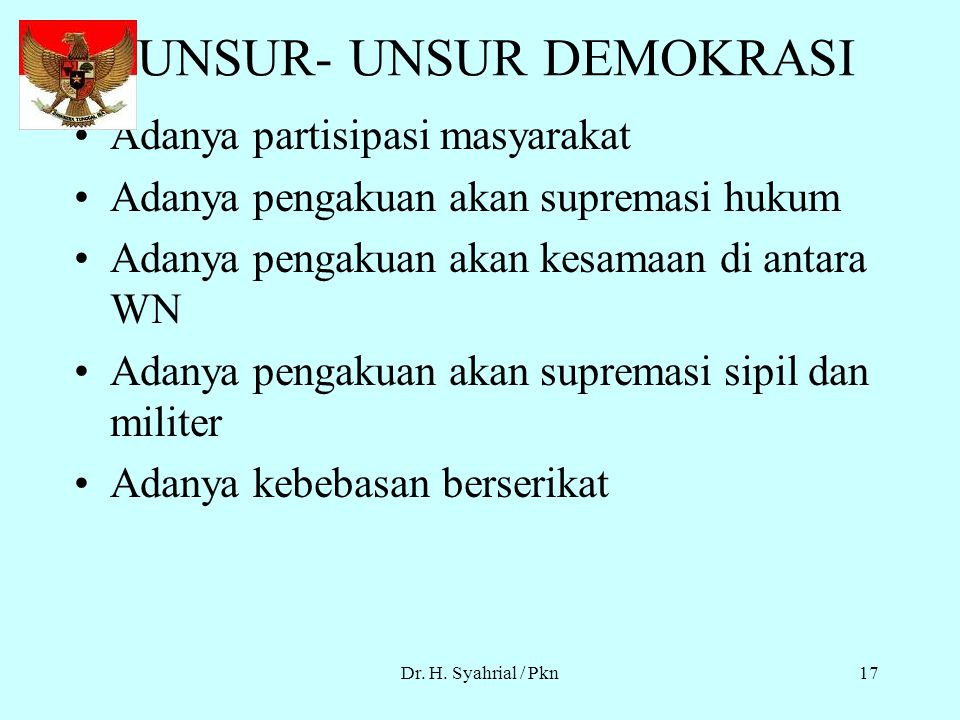 UNSUR- UNSUR DEMOKRASI