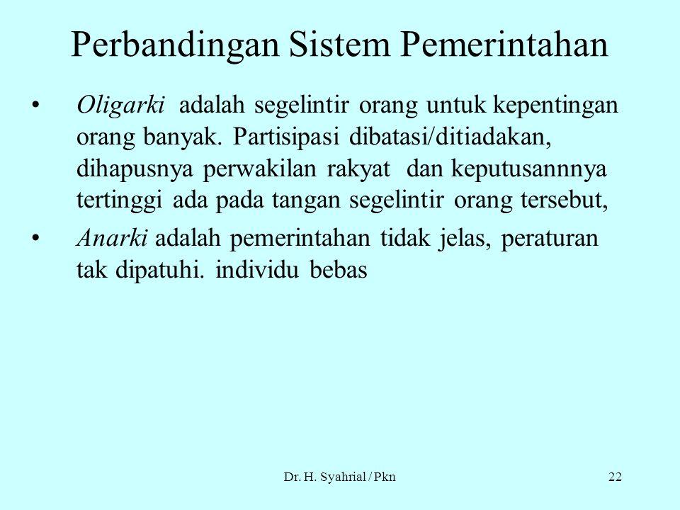 Perbandingan Sistem Pemerintahan