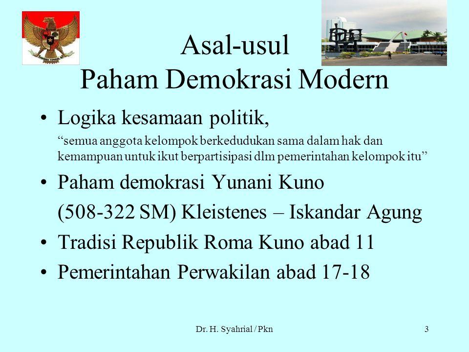 Asal-usul Paham Demokrasi Modern