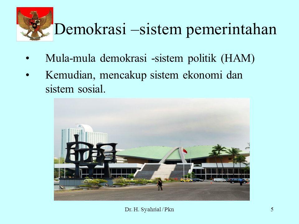 Demokrasi –sistem pemerintahan