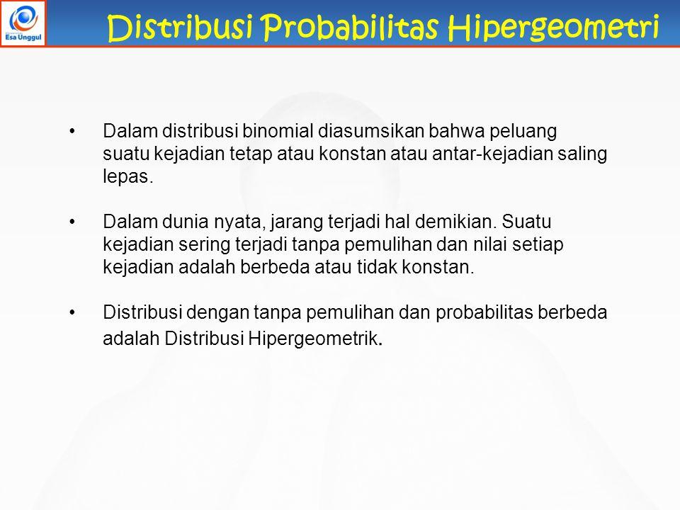 Distribusi Probabilitas Hipergeometri
