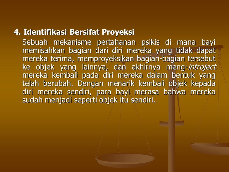 4. Identifikasi Bersifat Proyeksi