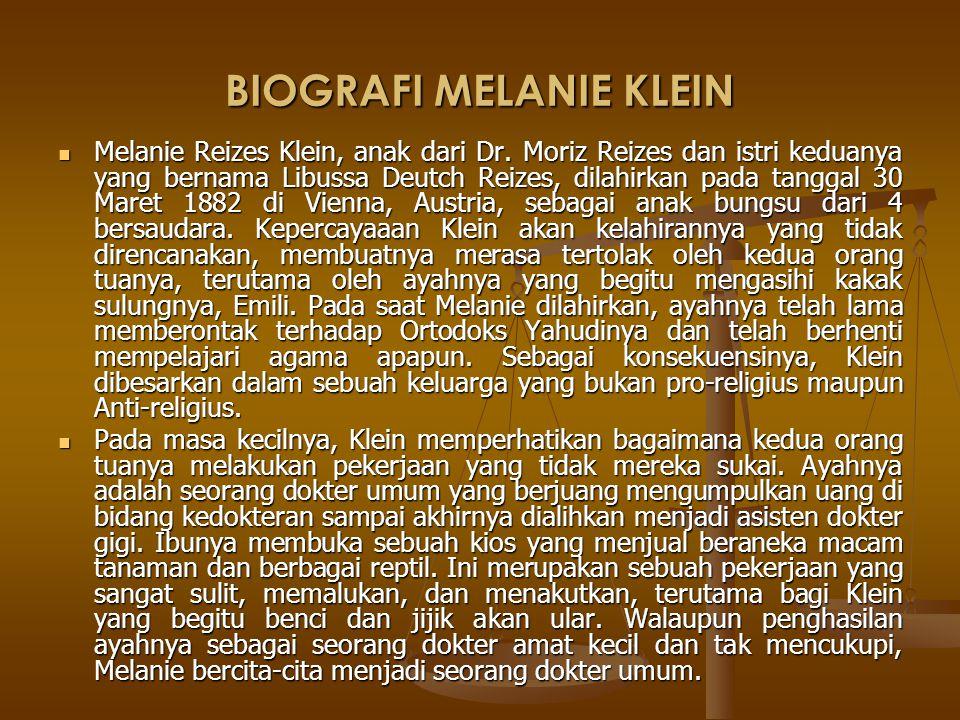 BIOGRAFI MELANIE KLEIN