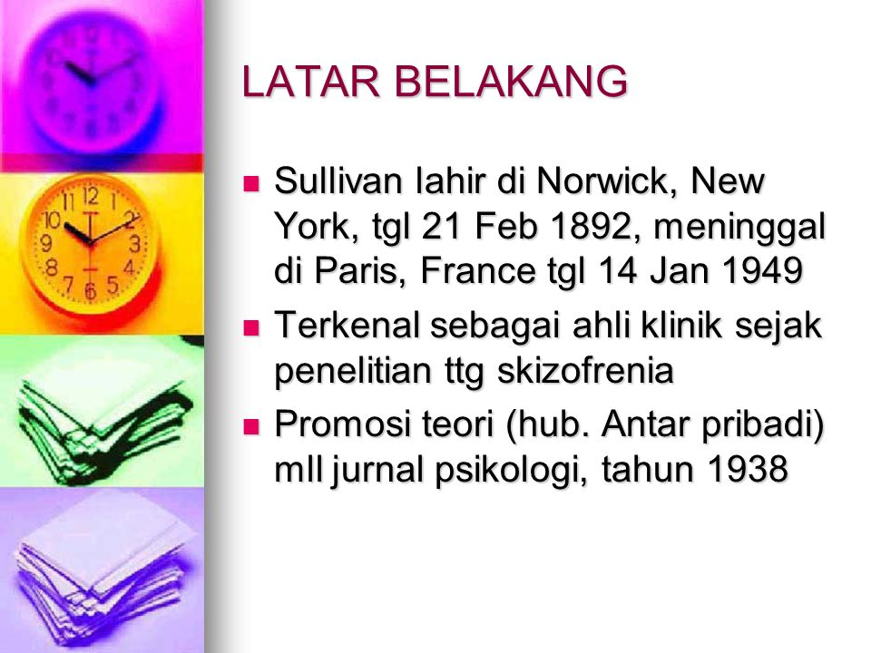 LATAR BELAKANG Sullivan lahir di Norwick, New York, tgl 21 Feb 1892, meninggal di Paris, France tgl 14 Jan 1949.