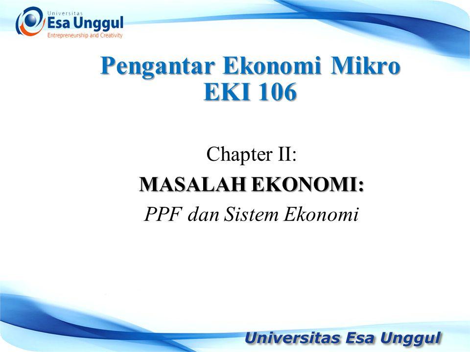 Pengantar Ekonomi Mikro EKI 106