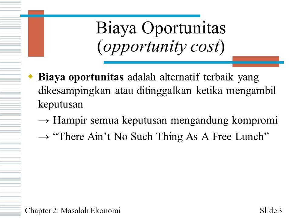 Biaya Oportunitas (opportunity cost)
