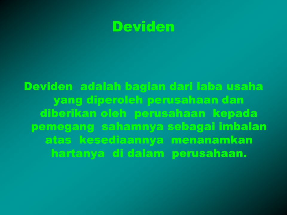 Deviden