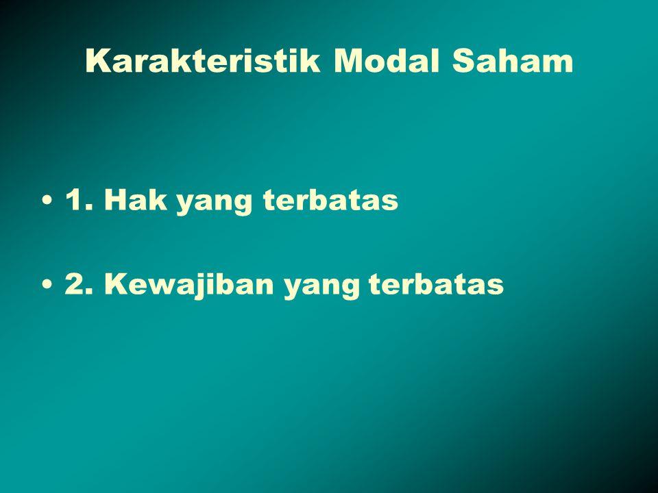Karakteristik Modal Saham