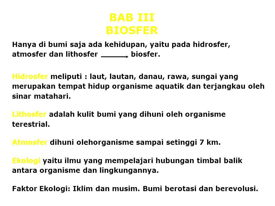BAB III BIOSFER.